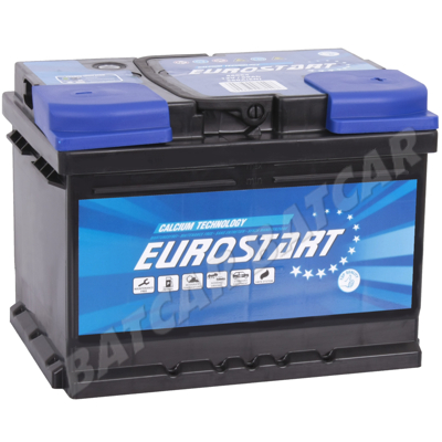 starterbatterie 60ah eurostart 12v 60 ah 560a en autobatterie ebay. Black Bedroom Furniture Sets. Home Design Ideas
