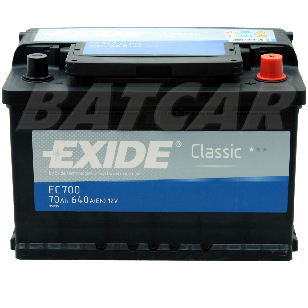 autobatterie exide classic 12v 70ah 640a en premium. Black Bedroom Furniture Sets. Home Design Ideas