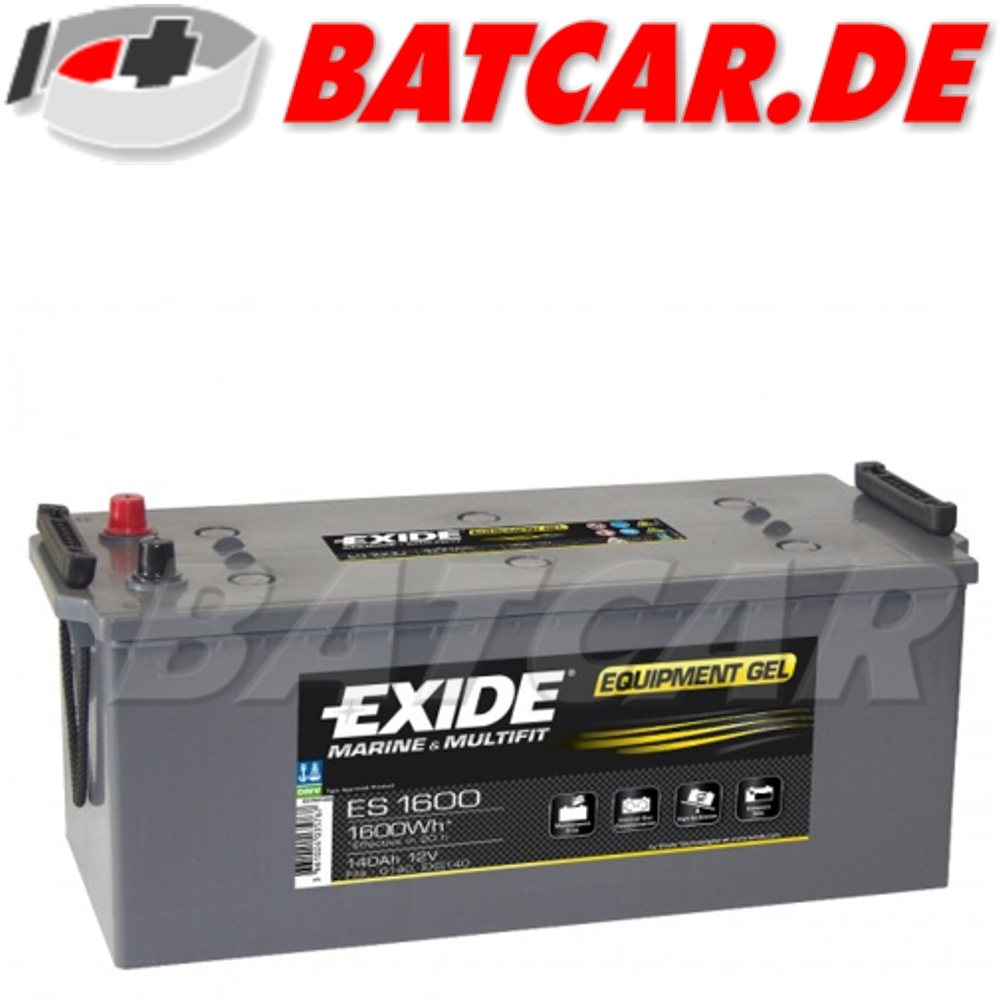 gel batterie exide 12v 140ah solar antrieb wohnmobil boot. Black Bedroom Furniture Sets. Home Design Ideas