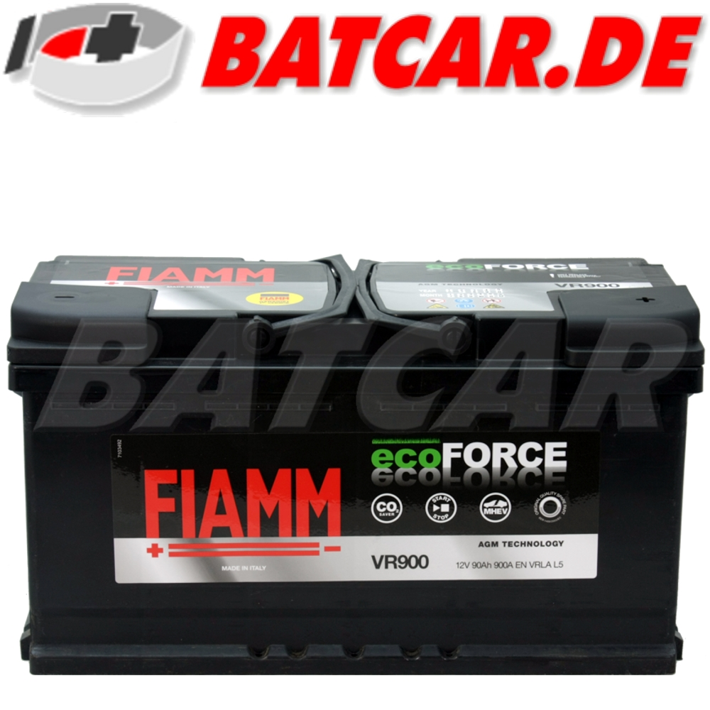 fiamm ecoforce 12v 90ah agm batterie autobatterie. Black Bedroom Furniture Sets. Home Design Ideas