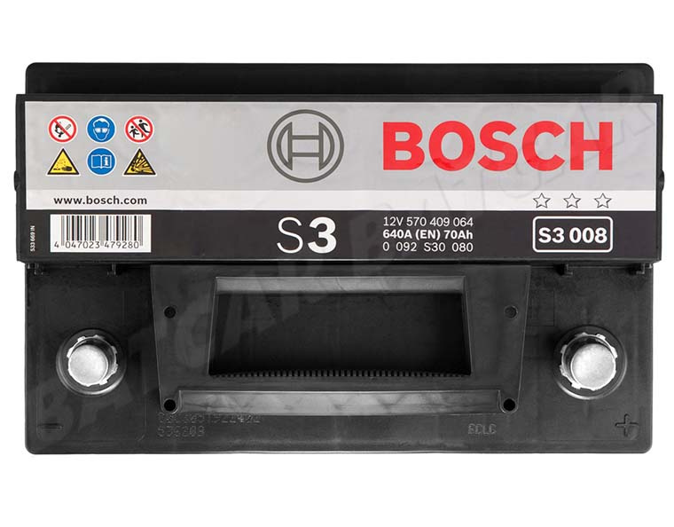 bosch 70 ah starterbatterie s3 008 12v 70ah batterie 570409064 neu ebay. Black Bedroom Furniture Sets. Home Design Ideas