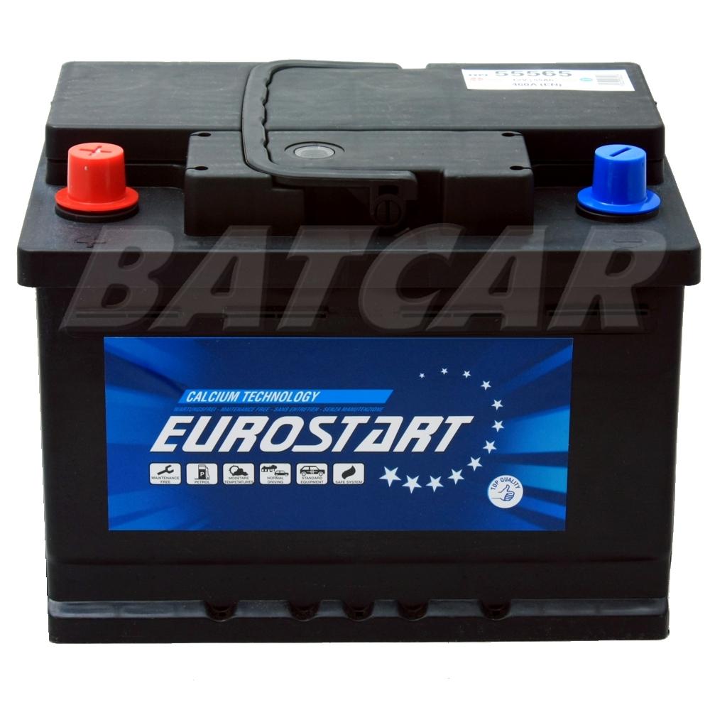 autobatterie 55ah 12v eurostart pol links ersetzt 60ah. Black Bedroom Furniture Sets. Home Design Ideas