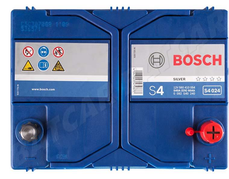 bosch 60 ah starterbatterie s4 024 12v 60ah batterie. Black Bedroom Furniture Sets. Home Design Ideas