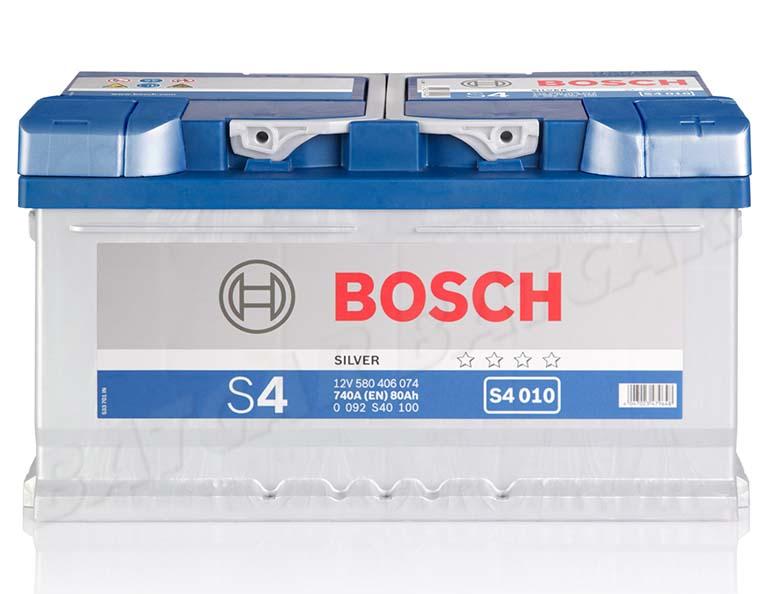 bosch 80 ah autobatterie s4 010 12v 80ah batterie etn 580406074 neu ebay. Black Bedroom Furniture Sets. Home Design Ideas